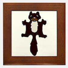 Cute Flying Squirrel Framed Tile