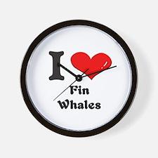 I love fin whales  Wall Clock