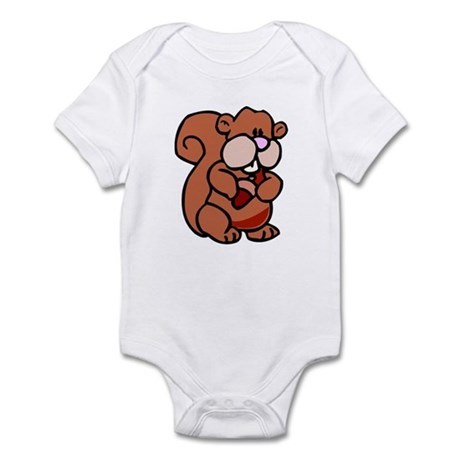 Chubby Cute Squirrel Infant Bodysuit