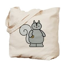 Chubby Funny Gray Squirrel Tote Bag