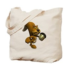 3D Squirrel with Acorn Tote Bag