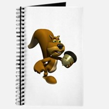 3D Squirrel with Acorn Journal