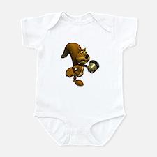 3D Squirrel with Acorn Infant Bodysuit