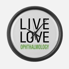Live Love Ophthalmology Large Wall Clock