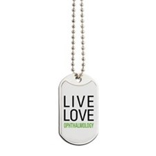 Live Love Ophthalmology Dog Tags