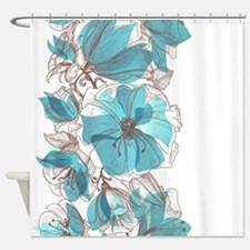 Pretty Floral Shower Curtain