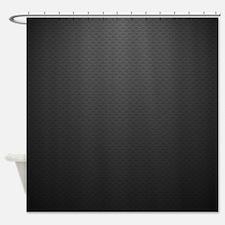 Black Curtain Texture black metal shower curtains | black metal fabric shower curtain liner