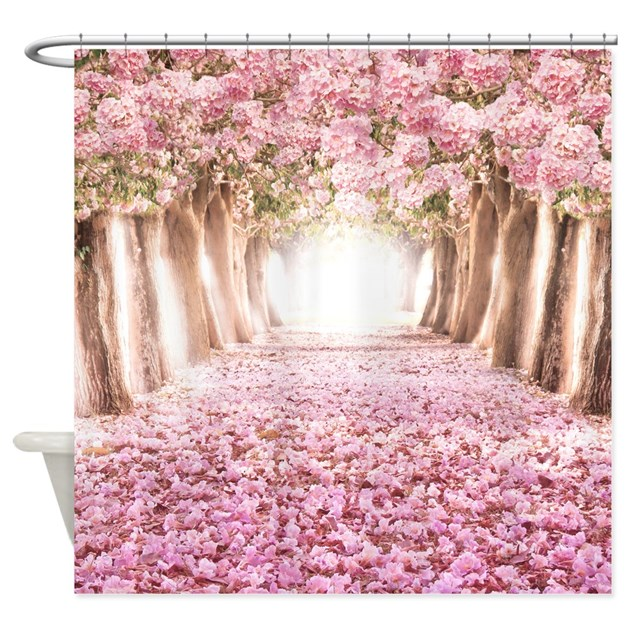 Romantic road shower curtain by bestshowercurtains