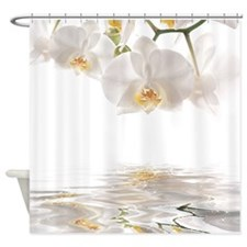 Orchids Reflection Shower Curtain