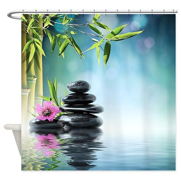 Zen Reflection Shower Curtain By Bestshowercurtains