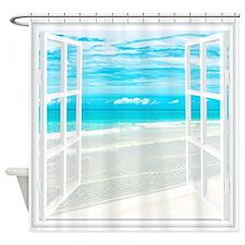 Oceanfront View Shower Curtain