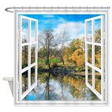 Autumn landscape Shower Curtains