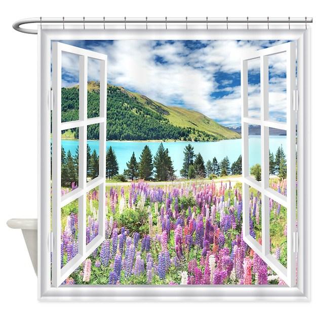 New Zealand View Shower Curtain By BestShowerCurtains