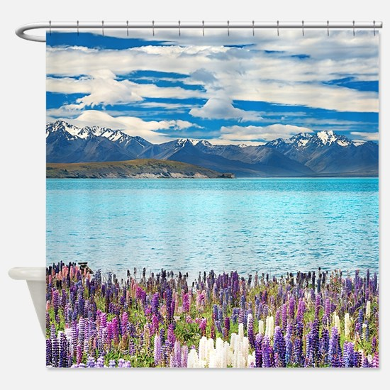 New Zealand Landscape Shower Curtain