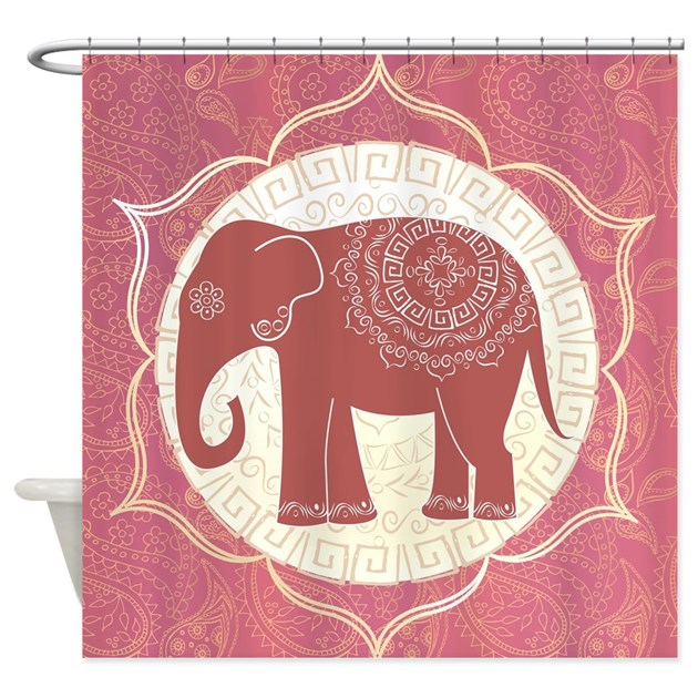 Indian Elephant Shower Curtain By BestShowerCurtains