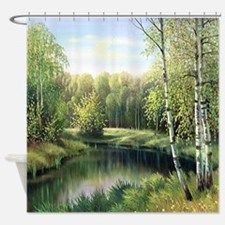 Woodland Painting Shower Curtain