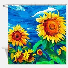 Sunflowers Painting Shower Curtain