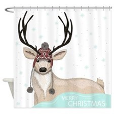Christmas Deer Shower Curtain