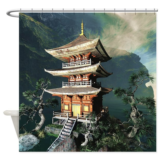 Asian Temple Shower Curtain by BestShowerCurtains