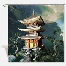 Asian Temple Shower Curtain
