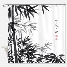 Asian Bamboo Shower Curtain