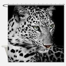 White Leopard Shower Curtain