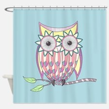Colorful Owl Shower Curtain