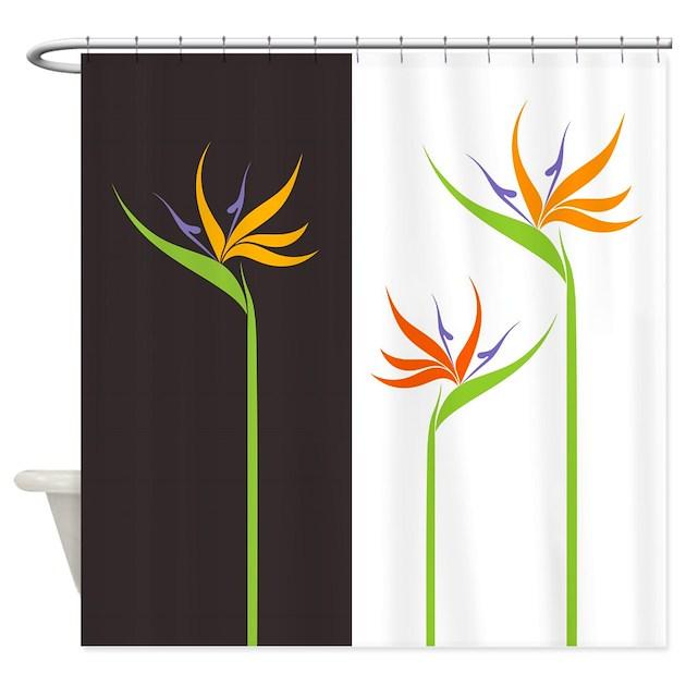 Bird Of Paradise Flowers Shower Curtain By Bestshowercurtains