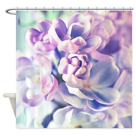 Lilac Flowers Shower Curtain By BestShowerCurtains
