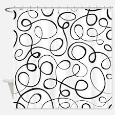 Swirls Pattern Shower Curtain