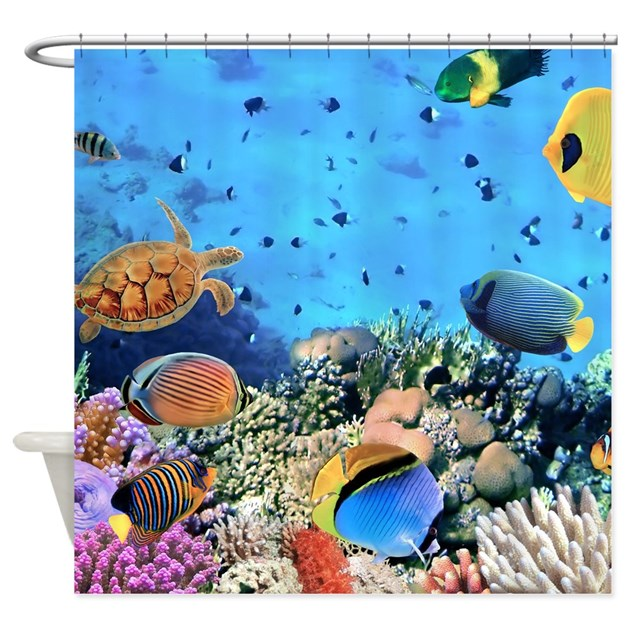 Curtains Ideas coral reef shower curtain : Coral Reef Shower Curtains | Coral Reef Fabric Shower Curtain Liner