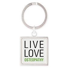 Osteopathy Square Keychain