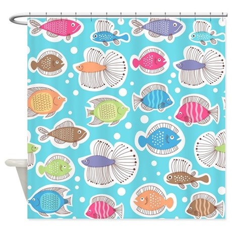 Cute Fish Shower Curtain By BestShowerCurtains
