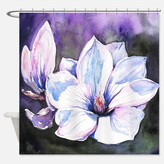 Magnolia Painting Shower Curtain