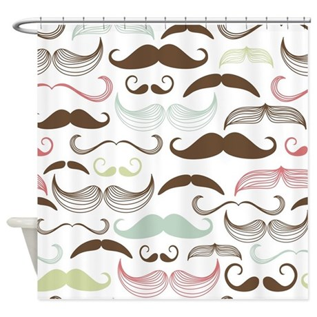 Mustache Pattern Shower Curtain By BestShowerCurtains