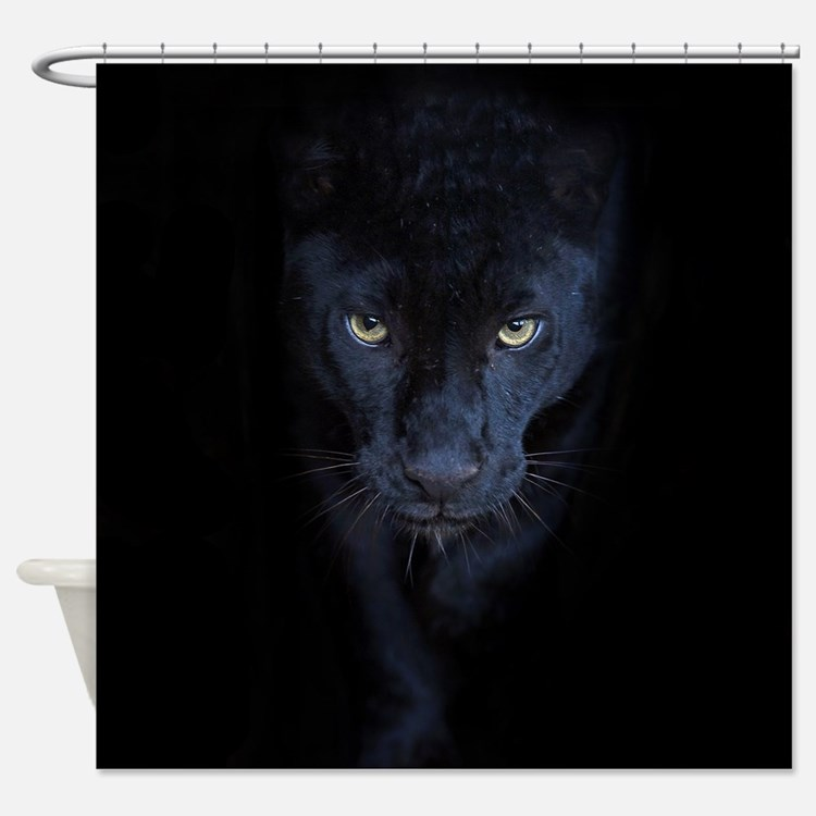 Black Panther Shower Curtains Black Panther Fabric