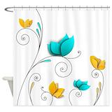 Elegant flowers Shower Curtains