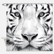 Realistic Tiger Painting Shower Curtain