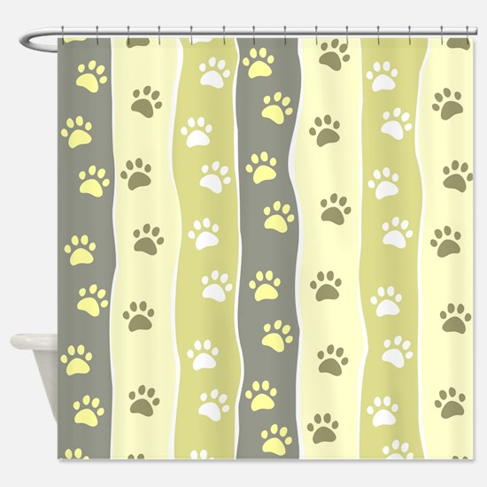Cute Paw Prints Shower Curtain