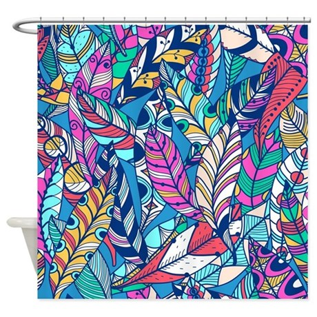 Colorful Feathers Shower Curtain By BestShowerCurtains