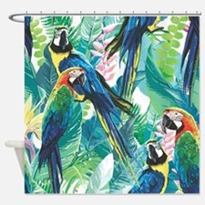 Colorful Parrots Shower Curtain