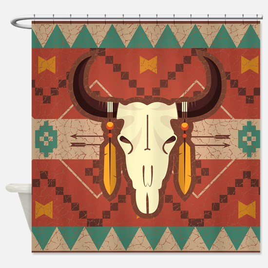 Western Cow Skull Shower Curtain