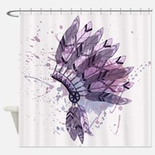 Purple Headdress Shower Curtain