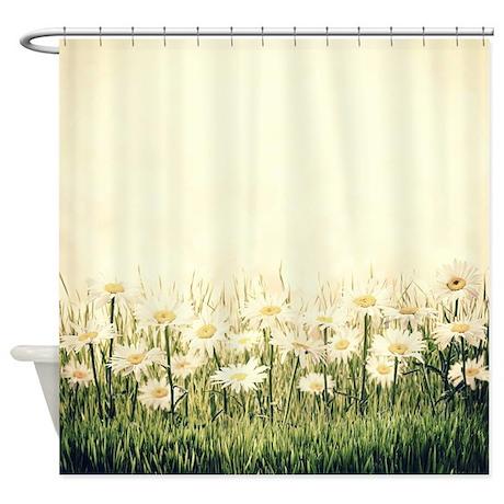 Rustic Daisies Shower Curtain By BestShowerCurtains