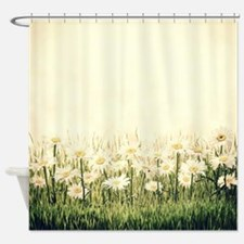 Rustic Daisies Shower Curtain