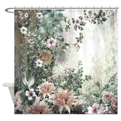 Flowers Painting Shower Curtain By BestShowerCurtains