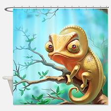 Cute Chameleon Shower Curtain