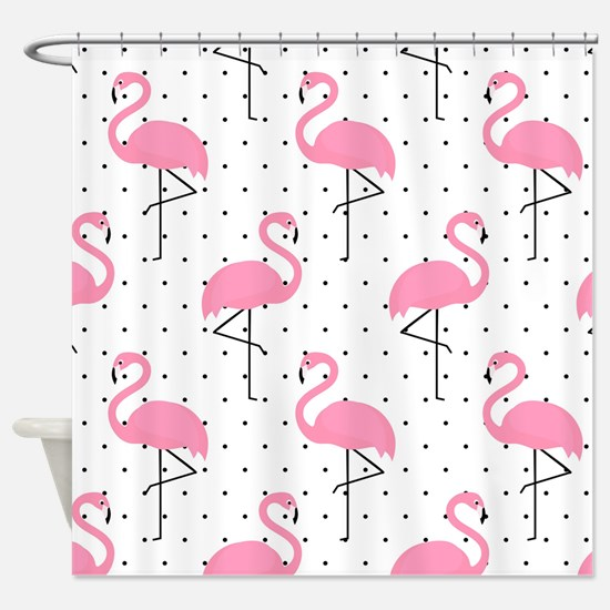 Cute Flamingo Shower Curtain