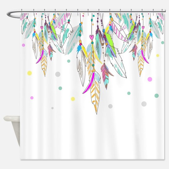 Dreamcatcher Feathers Shower Curtain