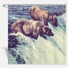 Bears Fishing Shower Curtain